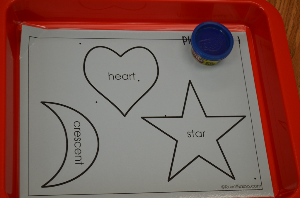 Picture of the shape activity.